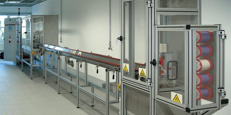 Technikumsanlage (TA) für medizische Fäden