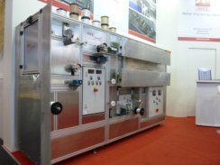 MES comtec® multi-coat-Modul - Labor-Fadenbehandlungs-Anlage in verschiedenen Ausführungen mit 1 bis 12 Fäden für umfangreiche Entwicklungen