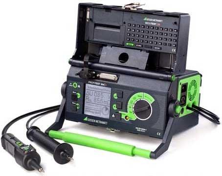 Prüfung der ortsveränderlichen elektrischen Betriebsmittel gemäß DGUV Vorschrift 3 - Gerätetester