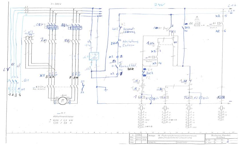 Schaltplan gezeichnet per Hand