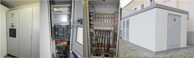 Komplette Energieverteilung mit Kompakt-Trafostationen