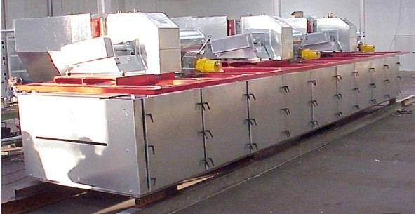 Kombinierter Infrarot-Konvektivtrockner in Sektionalbauweise