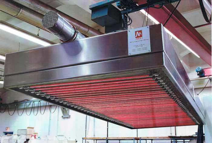 Hochwertige, beschleunigte industrielle Trocknung durch MES thermsol® com IR Infrarot-Kassetten