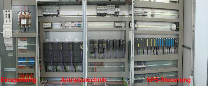 Schaltschrank mit Energietechnik, Antriebstechnik, Steuerungstechnik