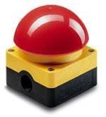Ein Not-Halt-System muss selbst in Panik sicher bedient werden - wie zum Beispiel der Fuß- und Grobhandtaster FAK.