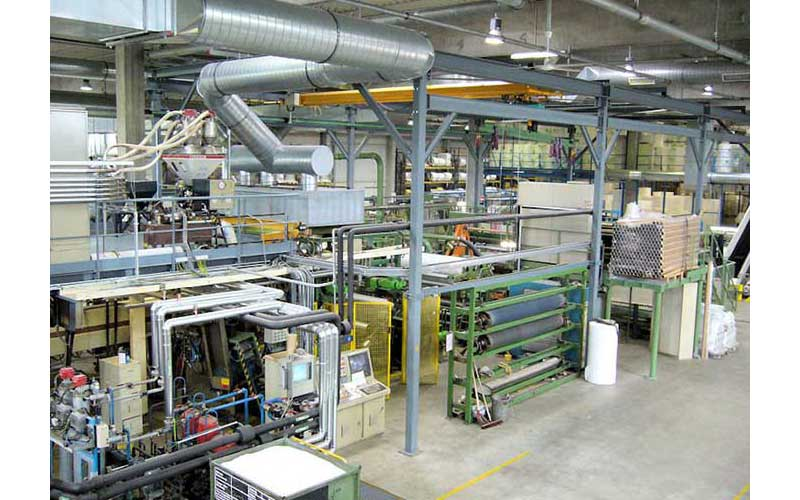 material flow planning: production line after relocation