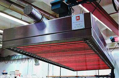 Beschleunigte industrielle Trocknung durch MES comIR Infrarot-Kassetten