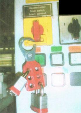 LOTO - Lock Out - abschließen und sichern