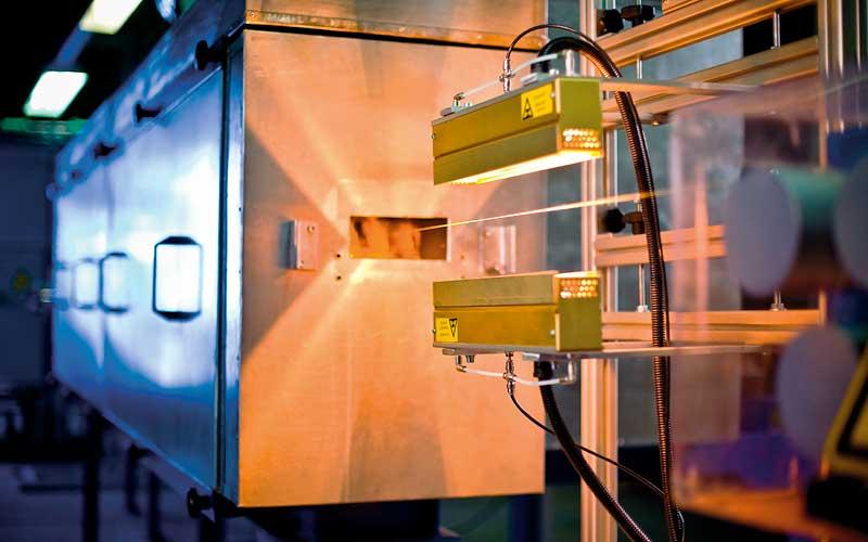 Infrarot-Technikumsanlage (Fadenbehandlungsanlage)