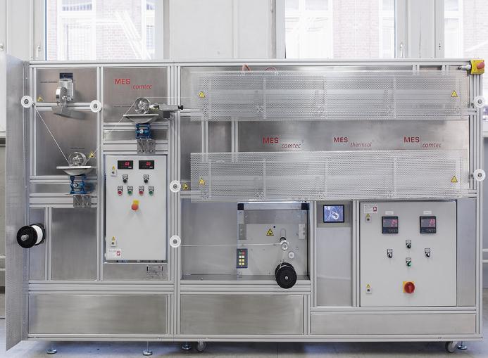 Technikumsanlage für die gleichzeitige Veredelung von mehreren Fäden oder Ausführung von verschiedenen Veredelungsverfahren