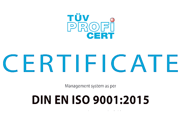 Management system certificate according to EN ISO 9001:2015