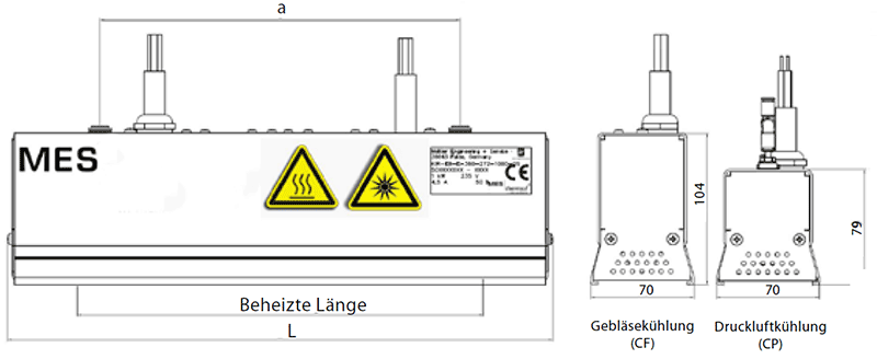MES plainIR CP/CF Infrarot-Flächenstrahler