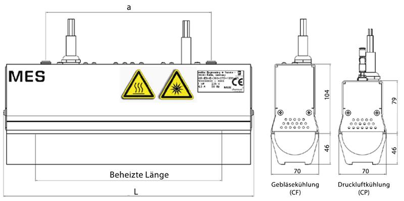 MES tubeIR CP / CF Infrarot-Röhrenstrahler